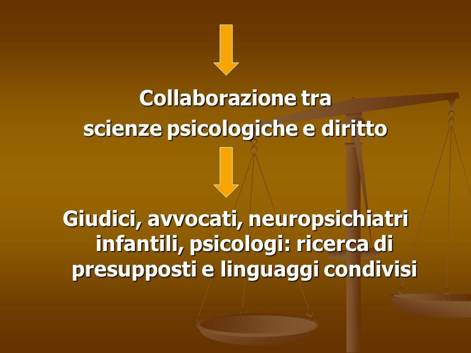 scienze psicologiche e diritto