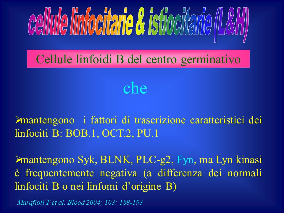 che cellule linfocitarie & istiocitarie (L&H)
