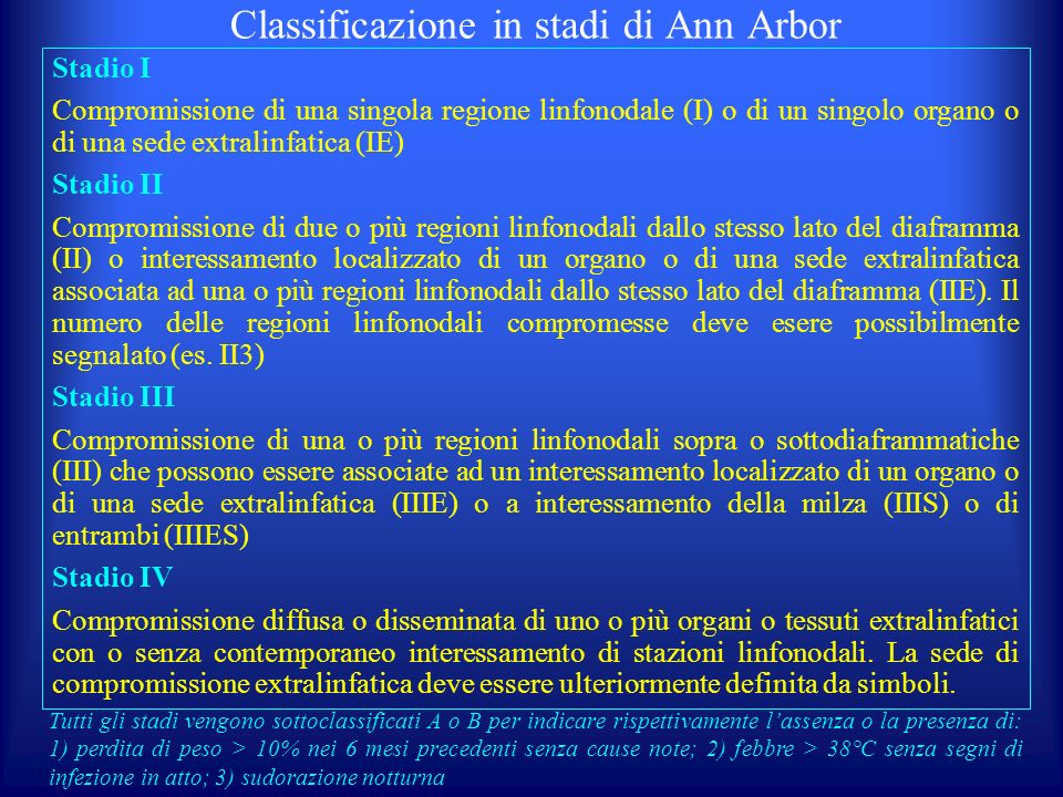 Classificazione in stadi di Ann Arbor