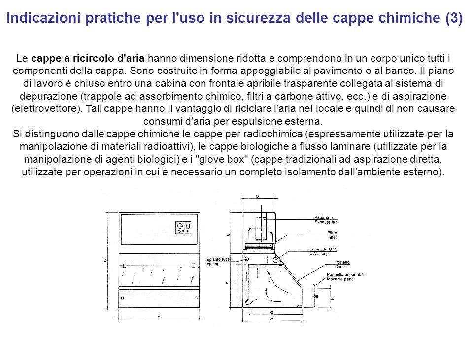 Indicazioni pratiche per l uso in sicurezza delle cappe chimiche (3)