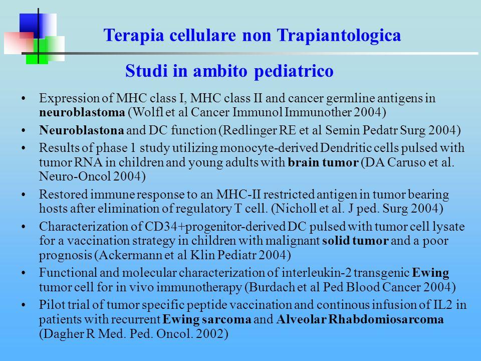 Terapia cellulare non Trapiantologica