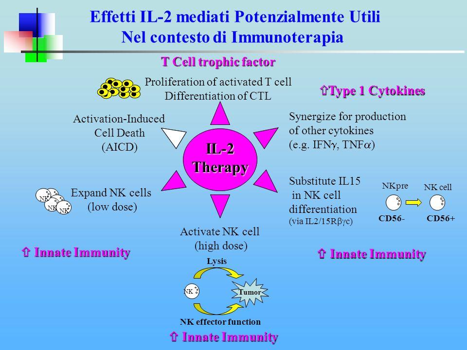 Effetti IL-2 mediati Potenzialmente Utili