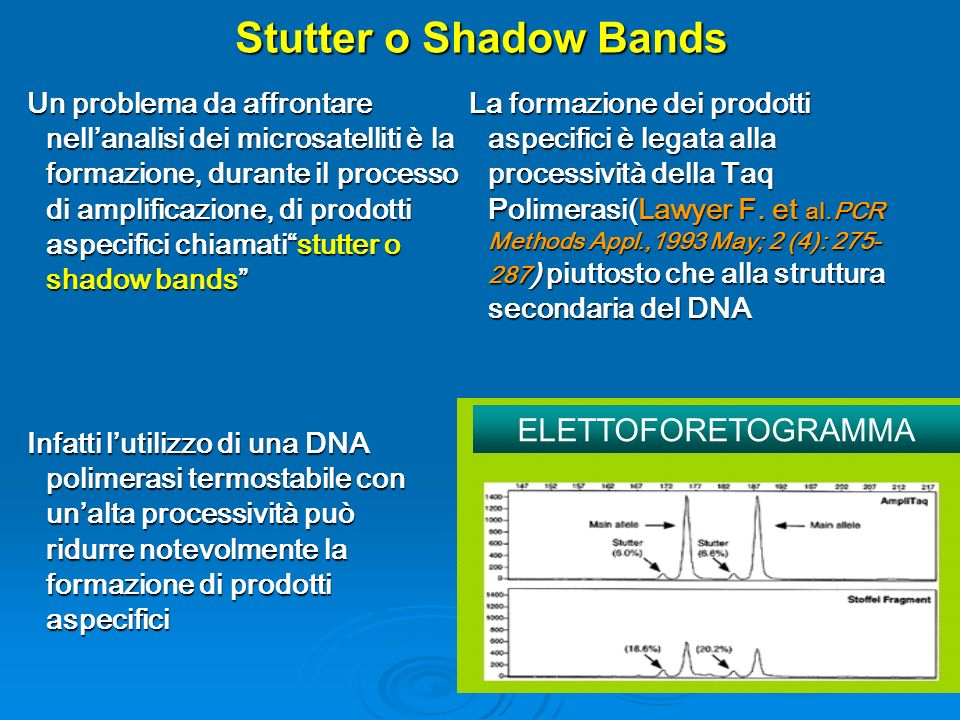 Stutter o Shadow Bands ELETTOFORETOGRAMMA