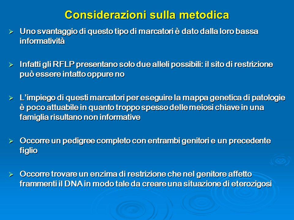 Considerazioni sulla metodica