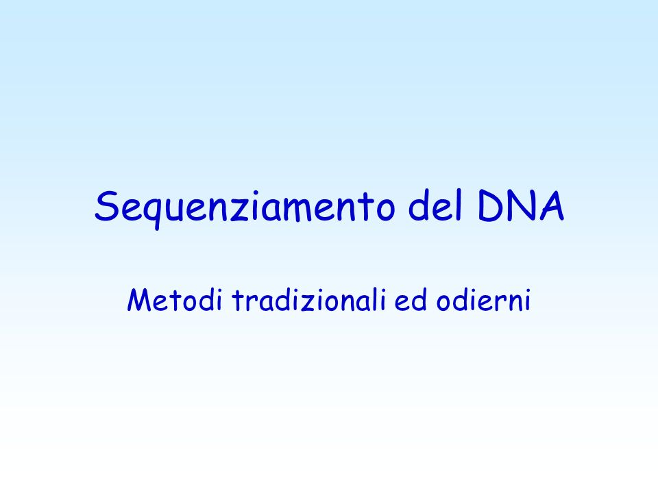 Sequenziamento del DNA