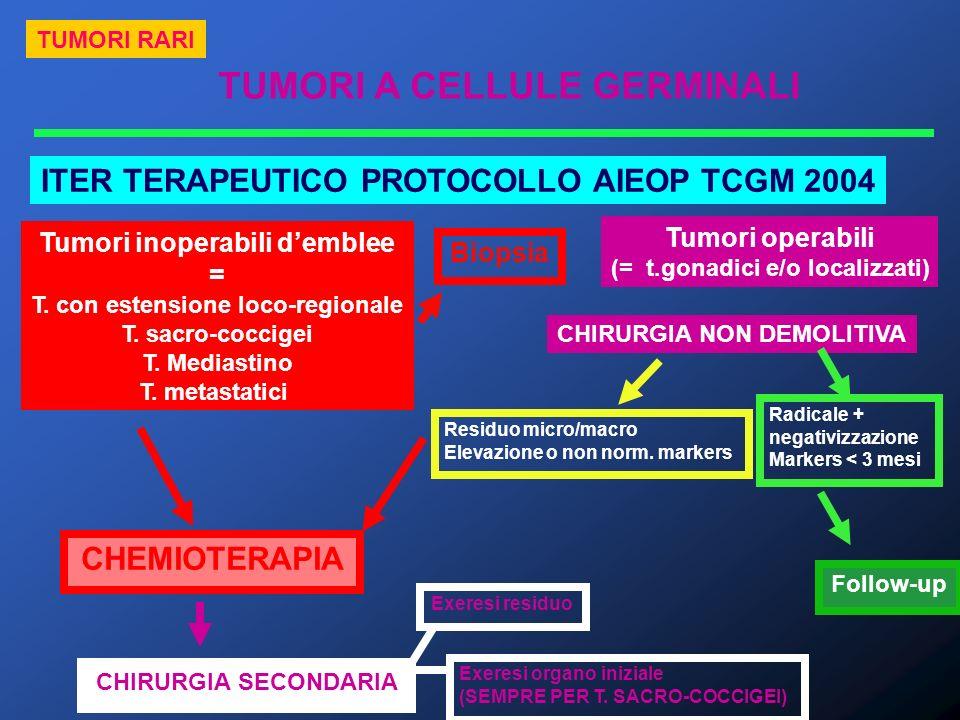 ITER TERAPEUTICO PROTOCOLLO AIEOP TCGM 2004 CHEMIOTERAPIA