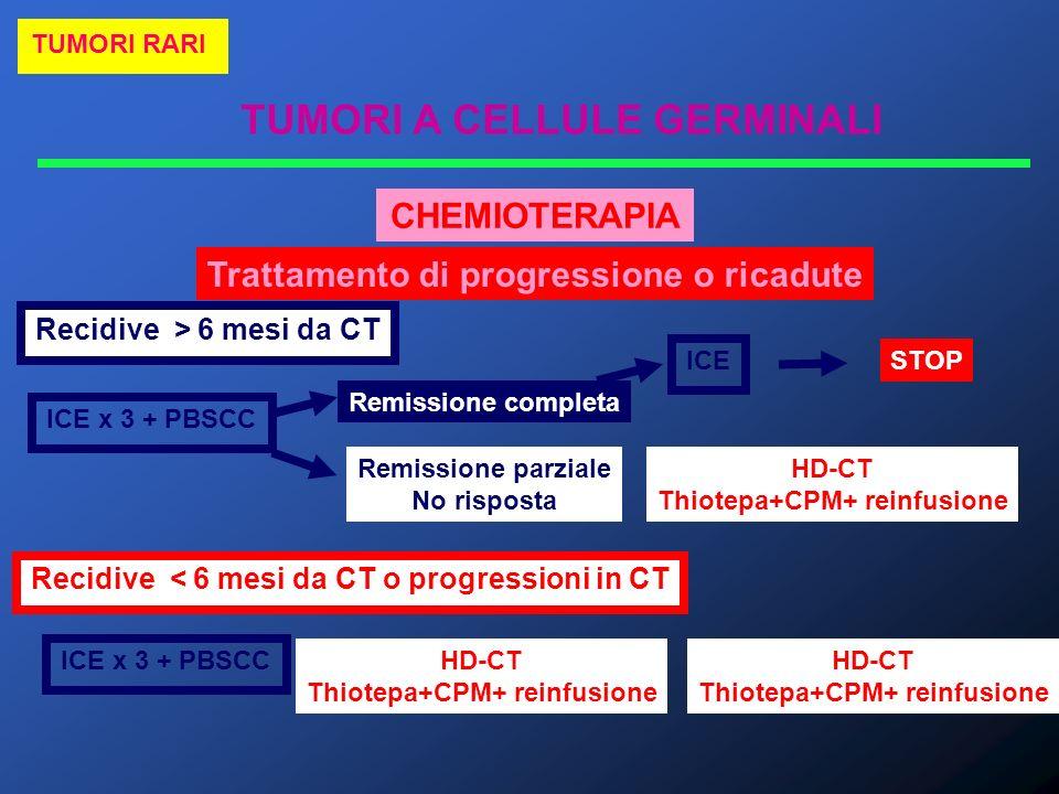 CHEMIOTERAPIA Trattamento di progressione o ricadute