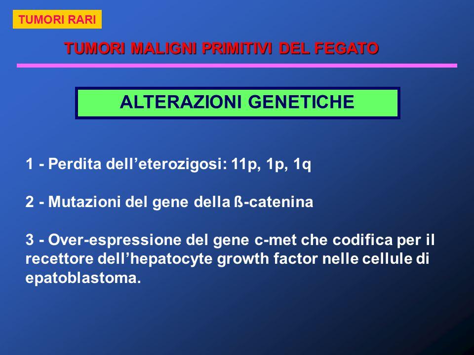 TUMORI MALIGNI PRIMITIVI DEL FEGATO ALTERAZIONI GENETICHE