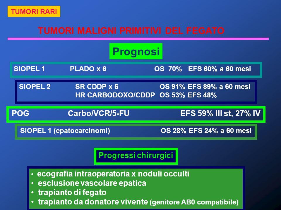 Prognosi TUMORI MALIGNI PRIMITIVI DEL FEGATO