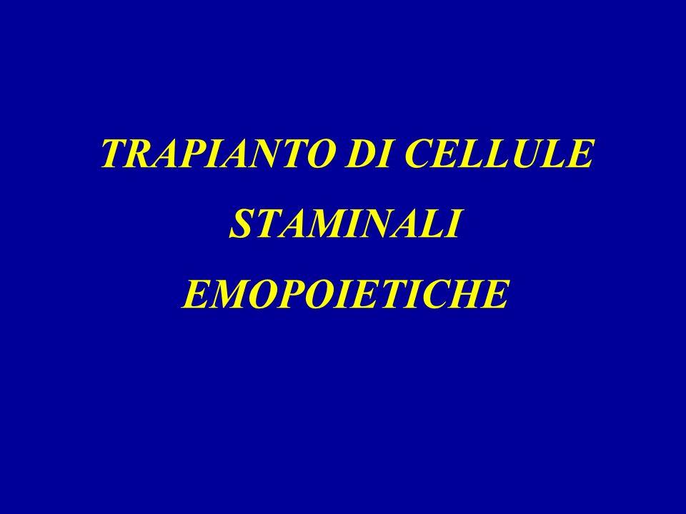 TRAPIANTO DI CELLULE STAMINALI EMOPOIETICHE