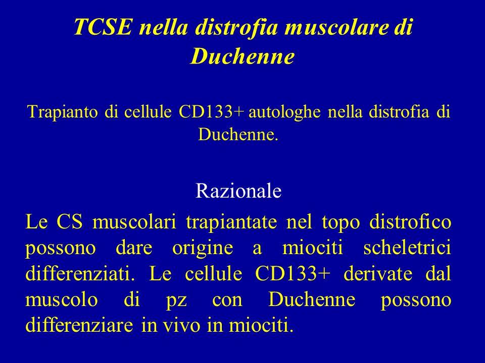 TCSE nella distrofia muscolare di Duchenne