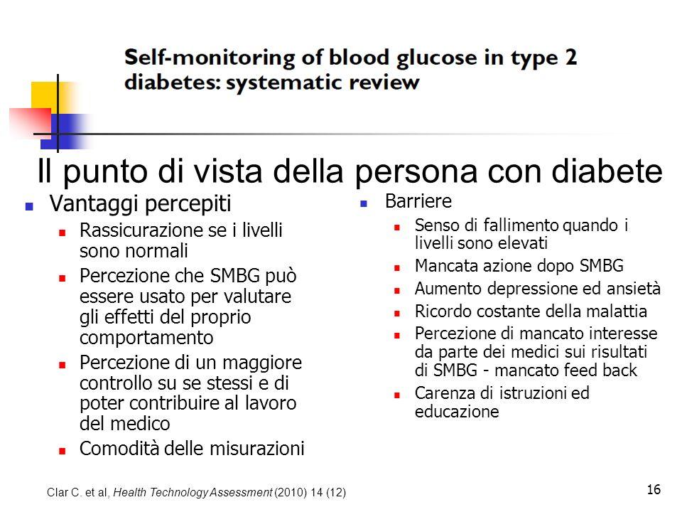 Il punto di vista della persona con diabete