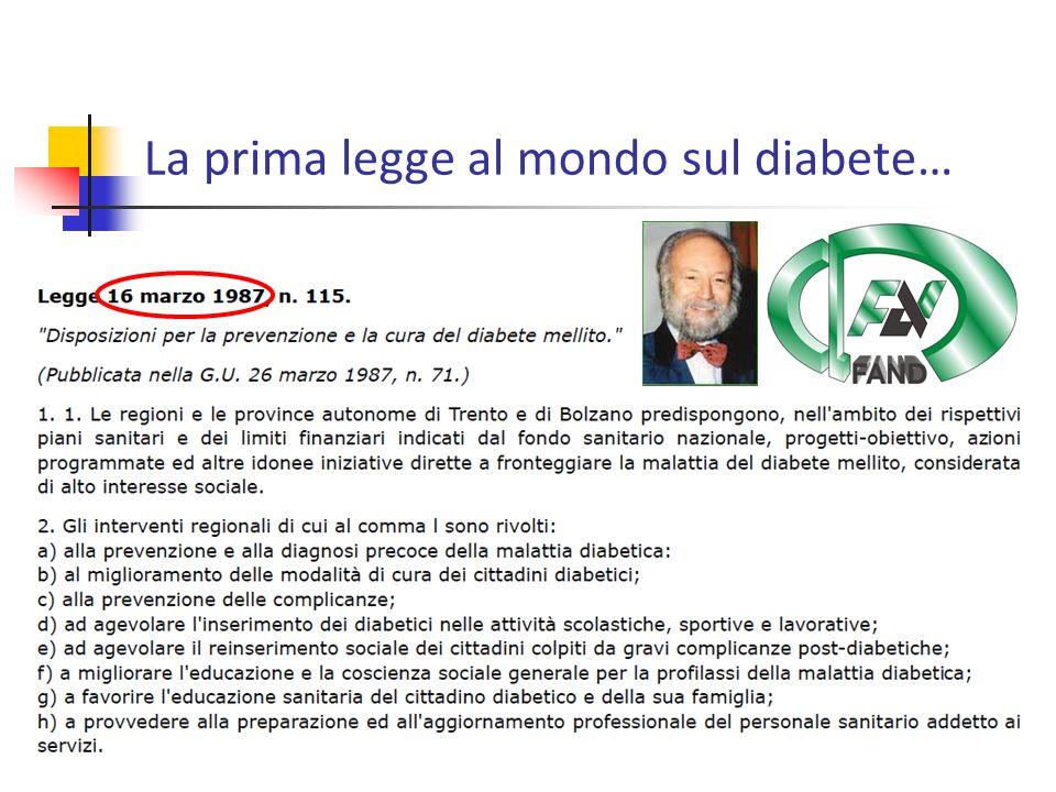 La prima legge al mondo sul diabete…
