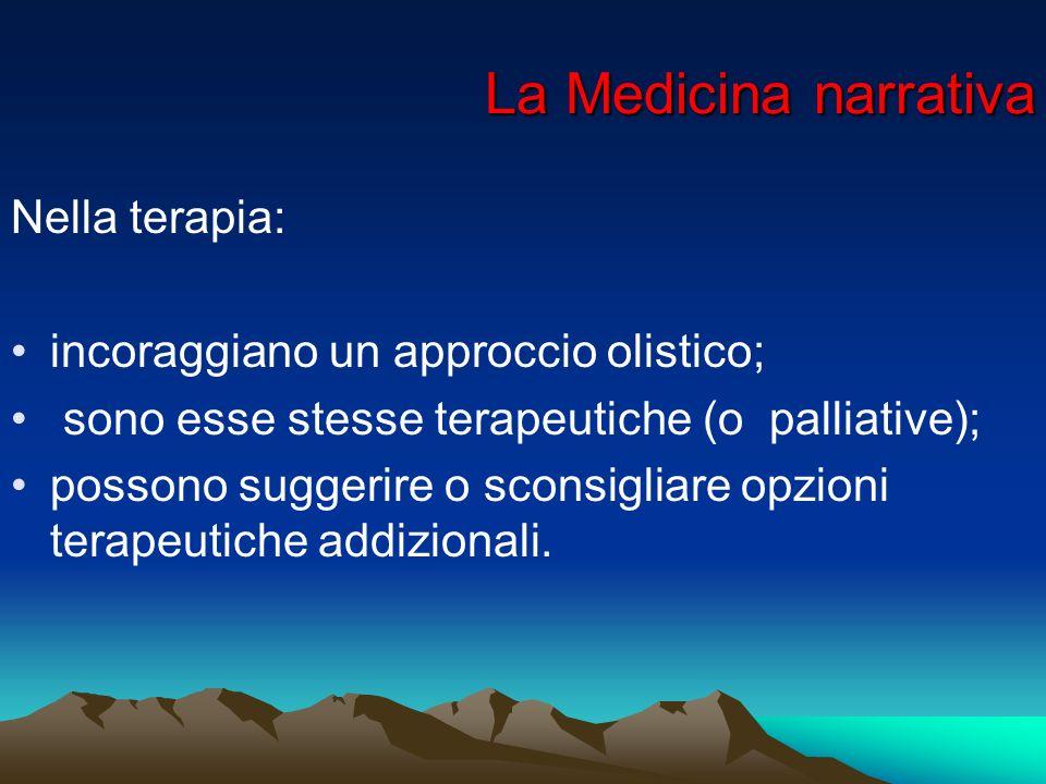 La Medicina narrativa Nella terapia: