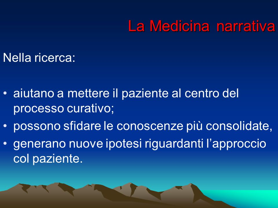 La Medicina narrativa Nella ricerca: