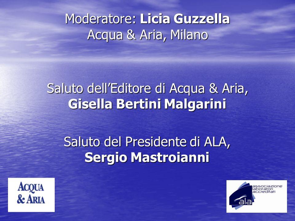 Moderatore: Licia Guzzella Acqua & Aria, Milano