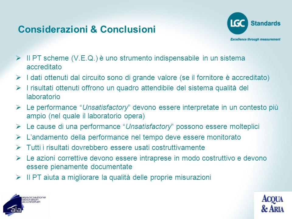 Considerazioni & Conclusioni