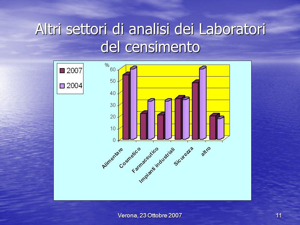 Altri settori di analisi dei Laboratori del censimento