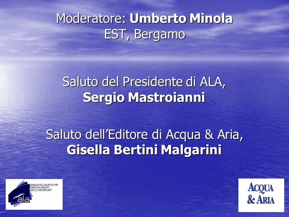 Moderatore: Umberto Minola EST, Bergamo