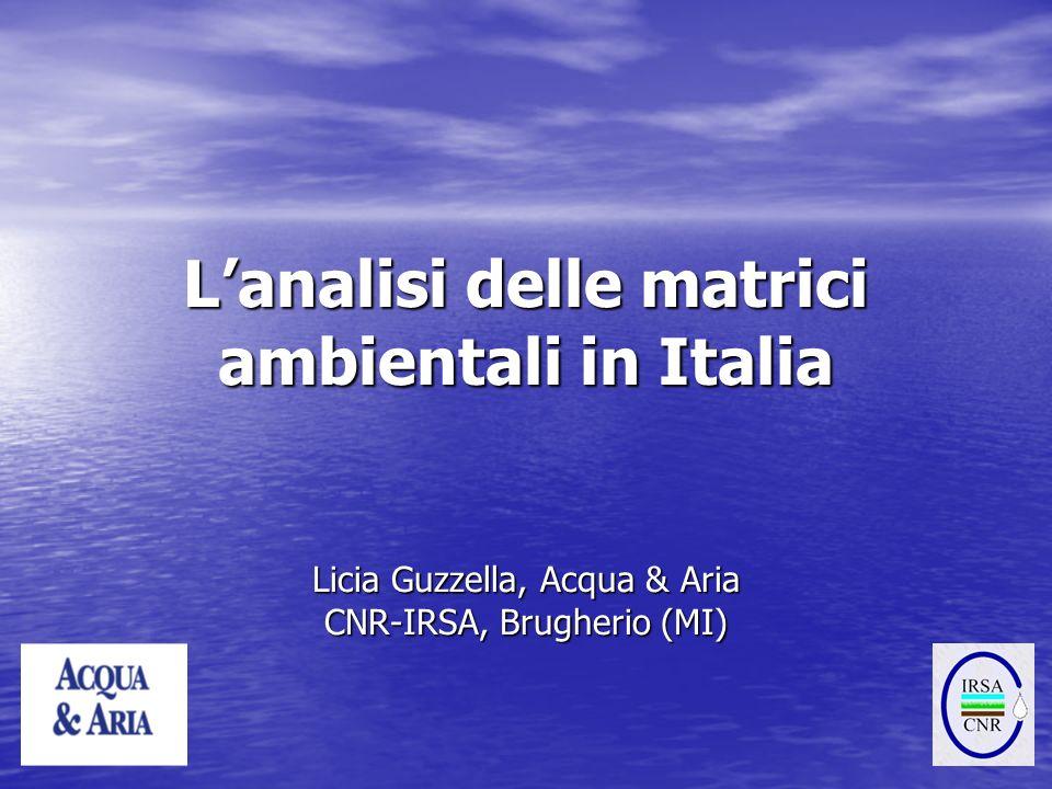 L'analisi delle matrici ambientali in Italia