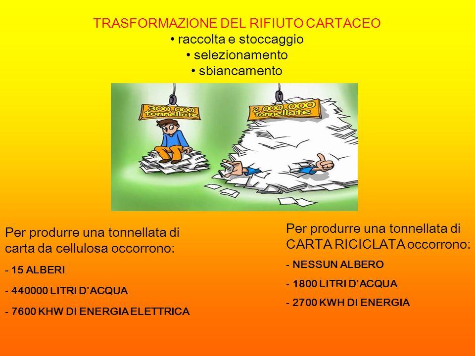 TRASFORMAZIONE DEL RIFIUTO CARTACEO