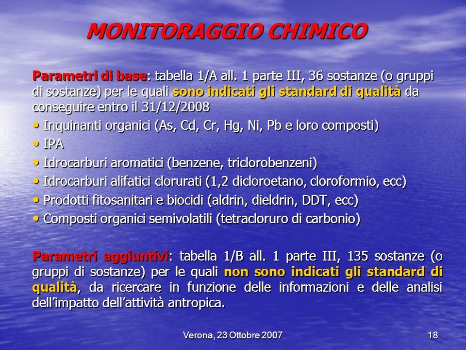 MONITORAGGIO CHIMICO