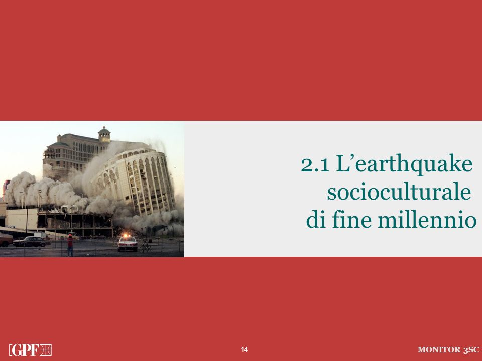 2.1 L'earthquake socioculturale di fine millennio