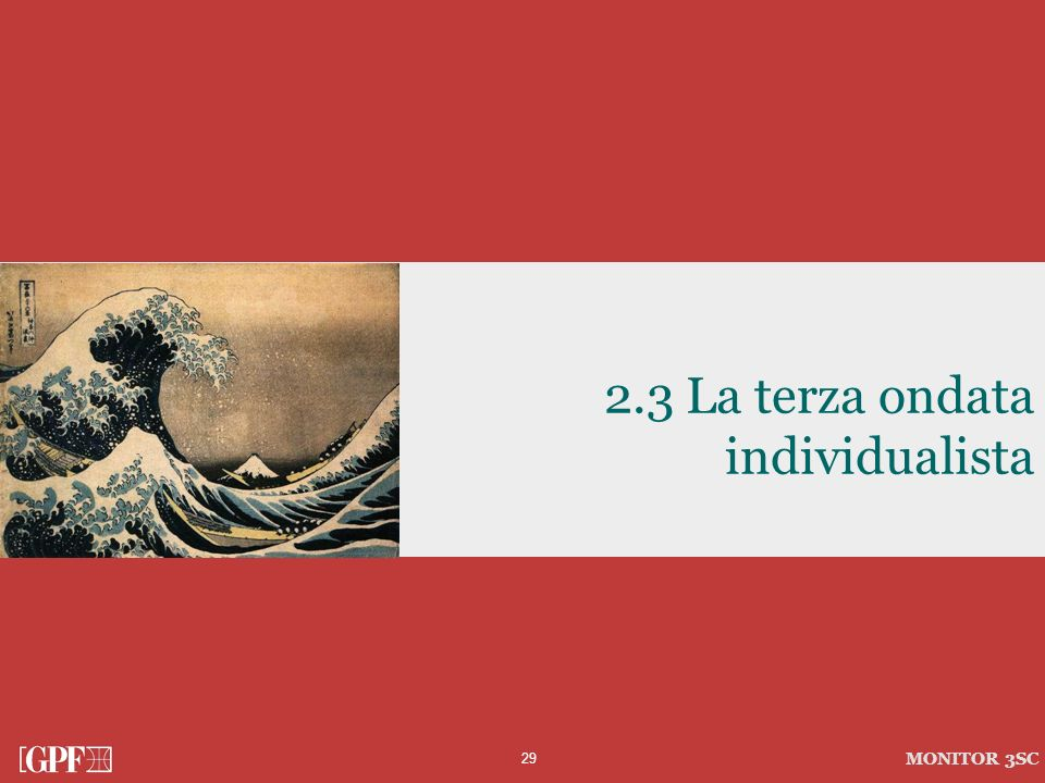 2.3 La terza ondata individualista