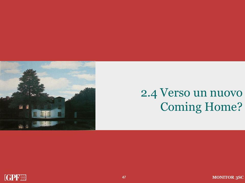 2.4 Verso un nuovo Coming Home