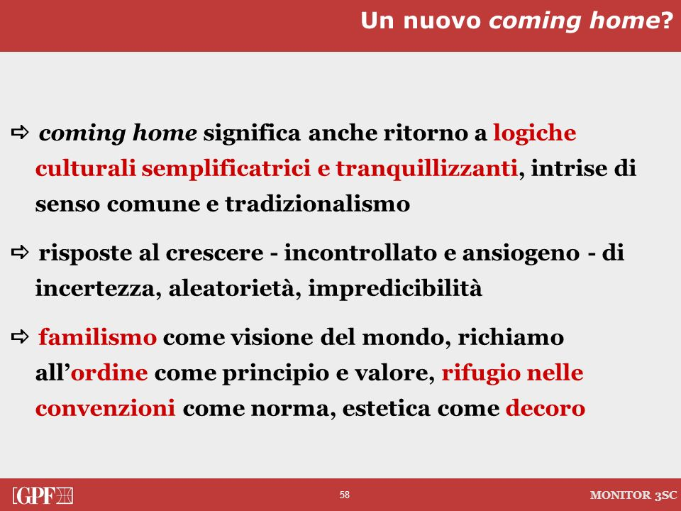 Un nuovo coming home