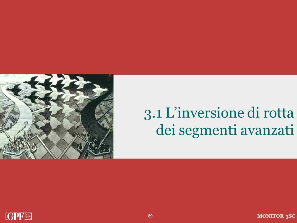 3.1 L'inversione di rotta dei segmenti avanzati