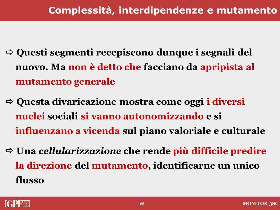 Complessità, interdipendenze e mutamento