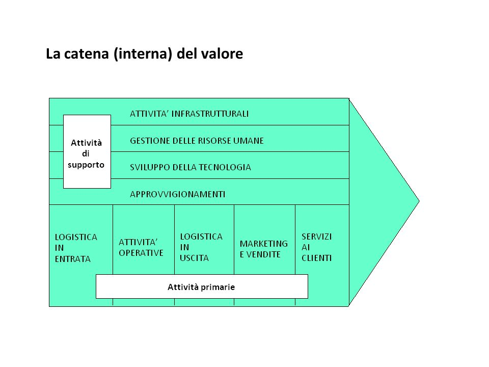 La catena (interna) del valore