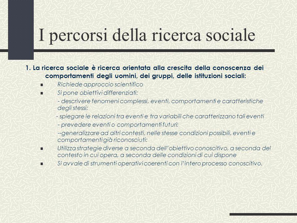 I percorsi della ricerca sociale