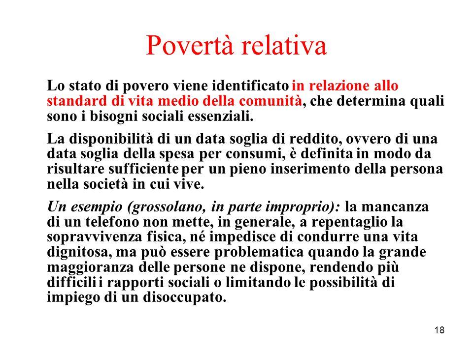 Povertà relativa