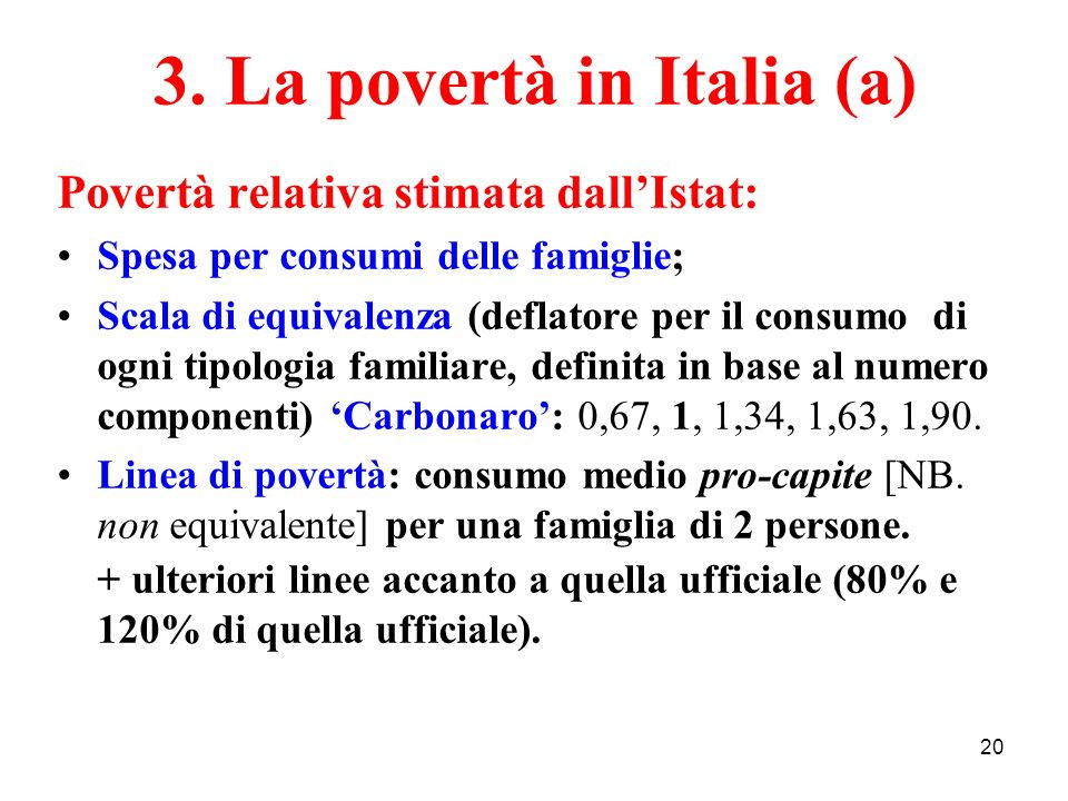 3. La povertà in Italia (a)