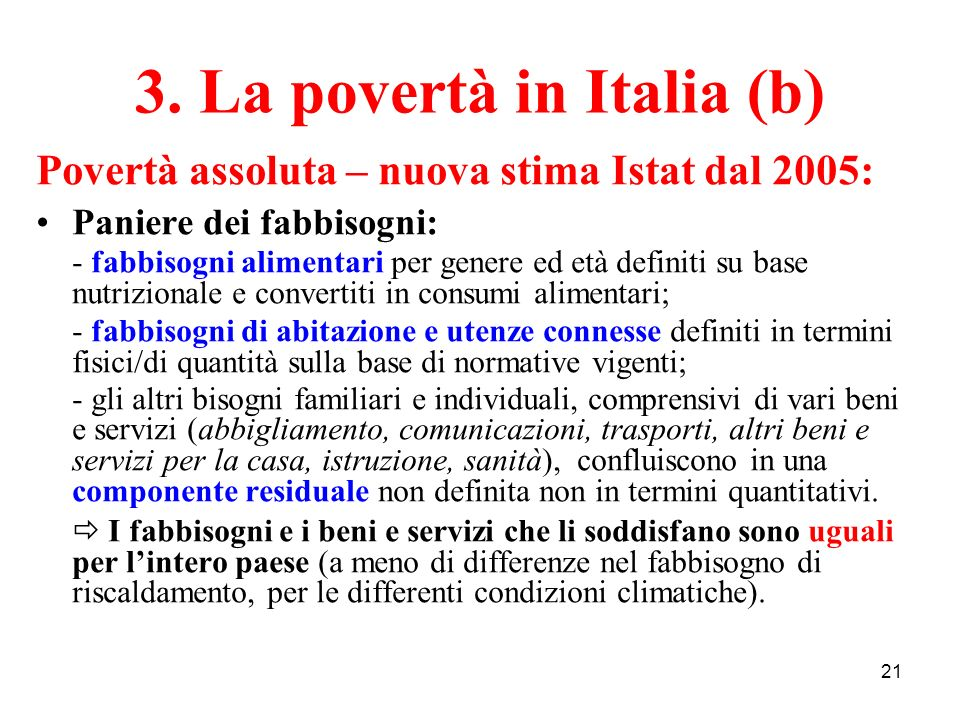 3. La povertà in Italia (b)