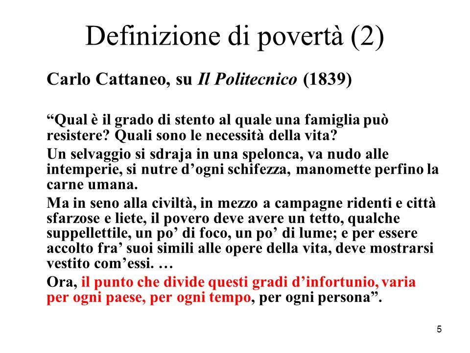 Definizione di povertà (2)