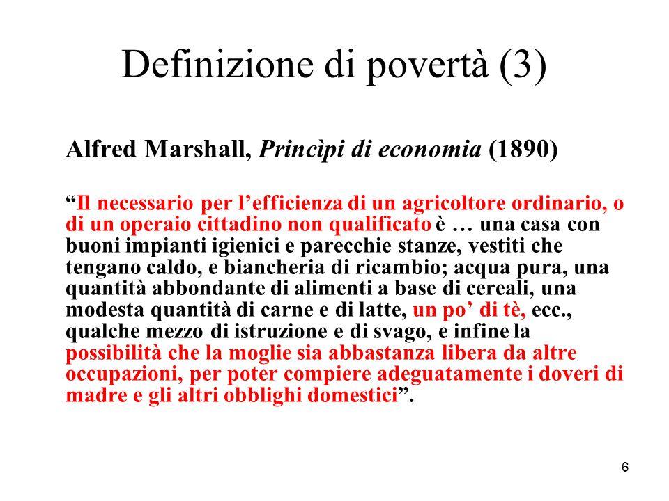 Definizione di povertà (3)