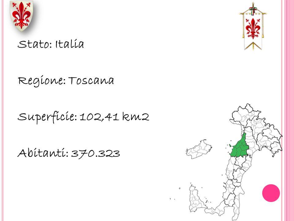 Stato: Italia Regione: Toscana Superficie: 102,41 km2 Abitanti: 370
