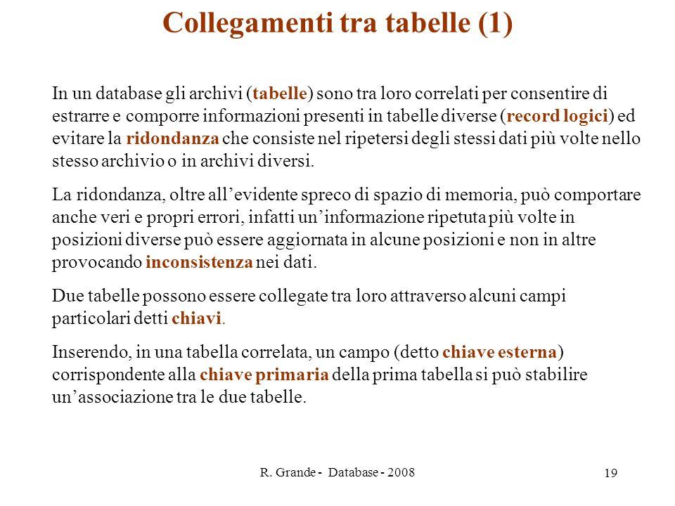 Collegamenti tra tabelle (1)