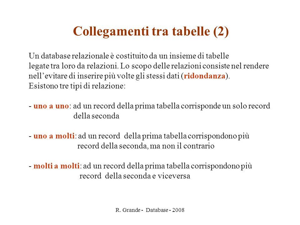 Collegamenti tra tabelle (2)