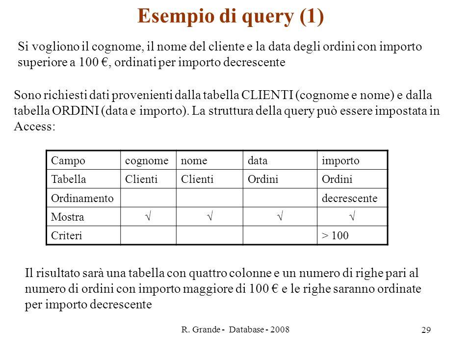 Esempio di query (1)
