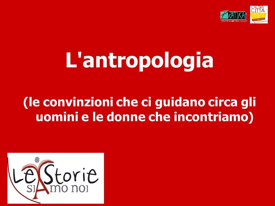 L antropologia (le convinzioni che ci guidano circa gli uomini e le donne che incontriamo)