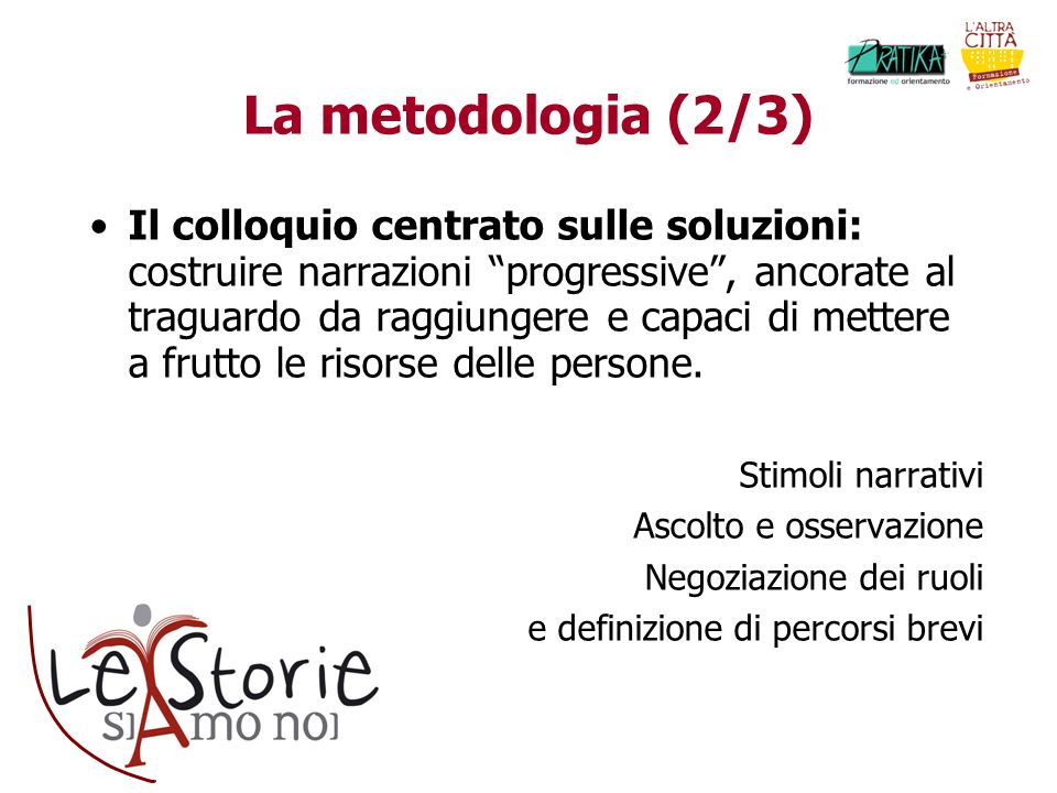 La metodologia (2/3)