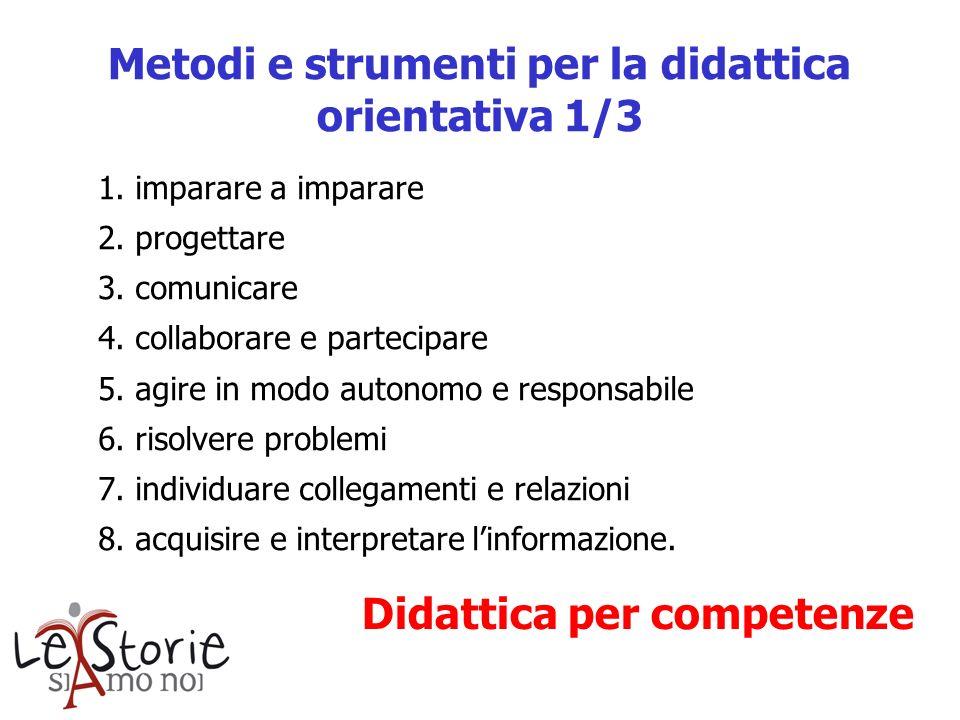 Metodi e strumenti per la didattica orientativa 1/3
