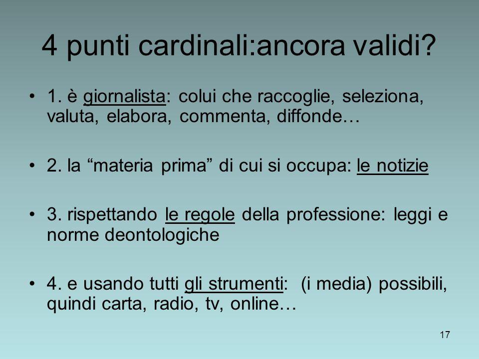4 punti cardinali:ancora validi