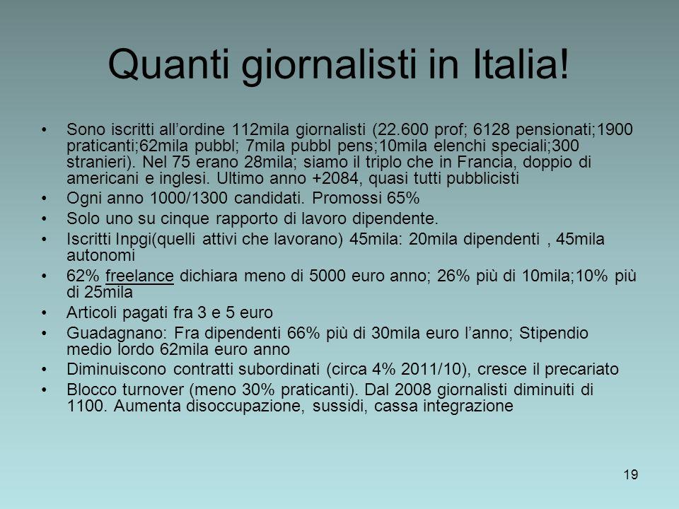 Quanti giornalisti in Italia!