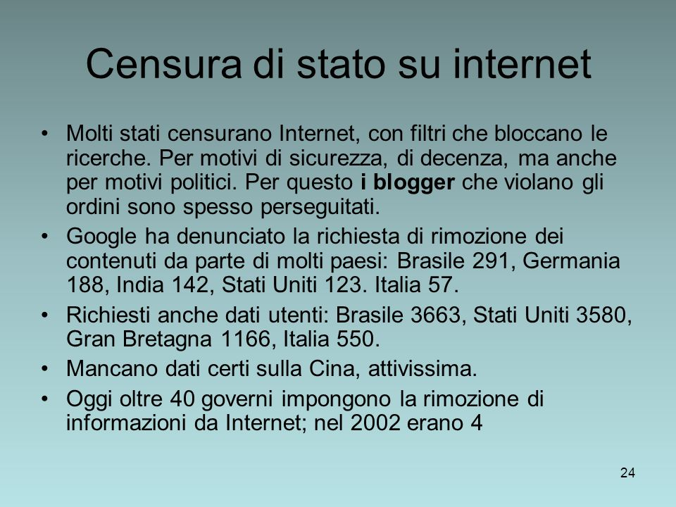 Censura di stato su internet