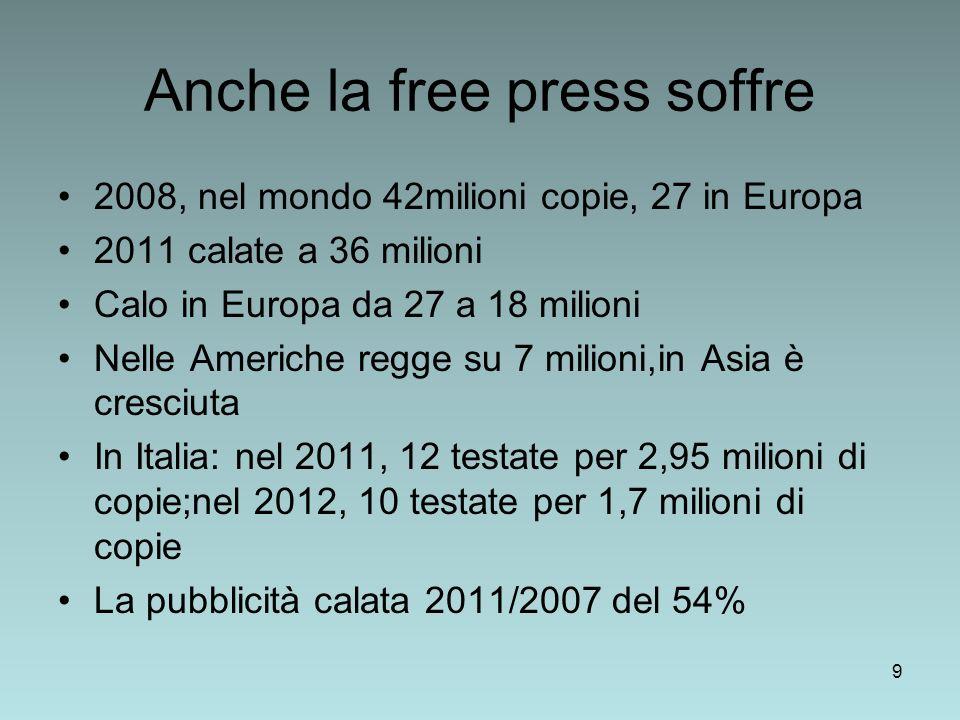 Anche la free press soffre